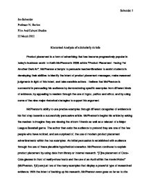 Article Analysis Essay Examples Hospi Noiseworks Co
