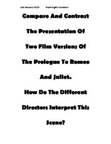 Compare And Contrast The Presentation Of Two Film Versions