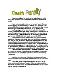 Model research paper for death penalty