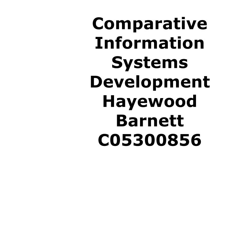 Information systems development literature review. Since