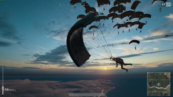 Pubg Erangel Wallpaper Pubg Guide Parachute Largage Millenium