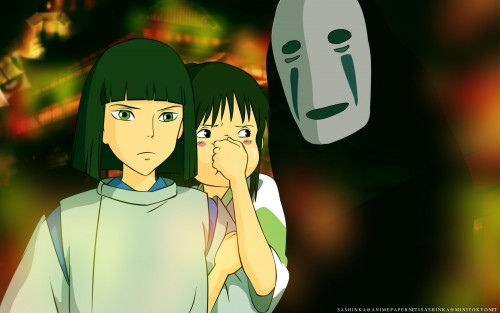 Studio Ghibli, Spirited Away, Kaonashi, Chihiro Ogino, Haku (Spirited Away) Wallpaper