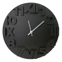 Platinet wall clock Modern, black (42985) - Wall clocks ...
