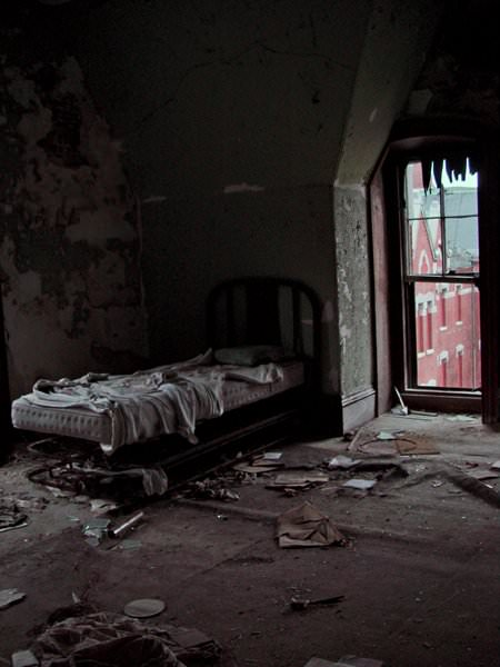 Bed  Photo of the Abandoned Danvers State Hospital