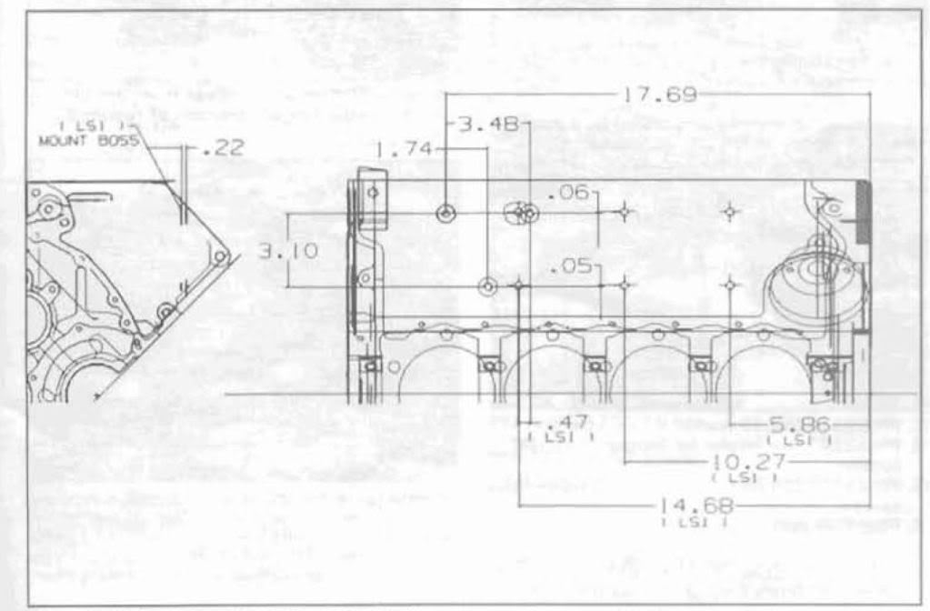 Please explain this LS motor mount drawing