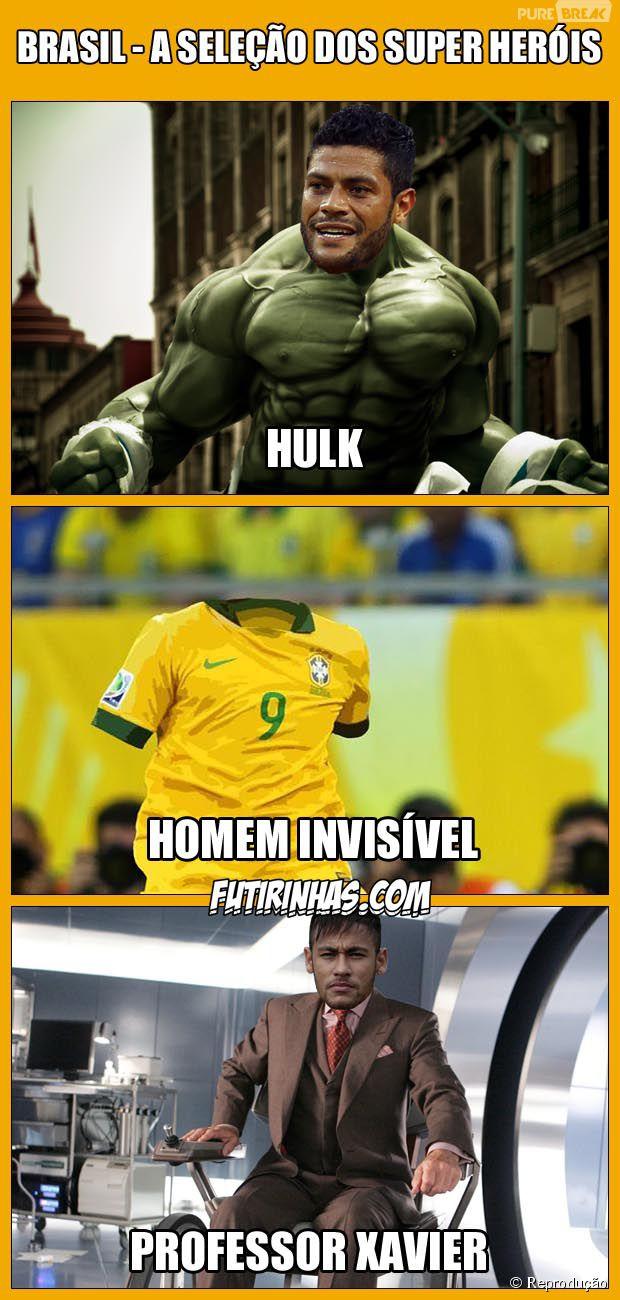 Os super-herois do Brasil! Hulk, Homem Invisível e Professor Xavier