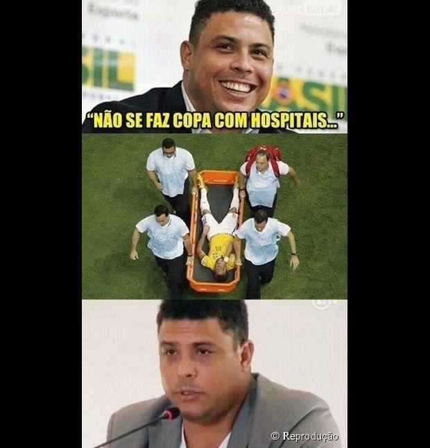 Não se faz Copa com hospitais, Ronaldo? E agora!?