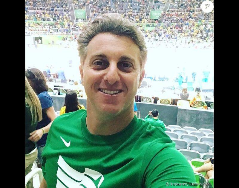 Luciano Huck foi vaiado durante o jogo de vôlei da seleção masculina neste domingo, 7 de agosto de 2016