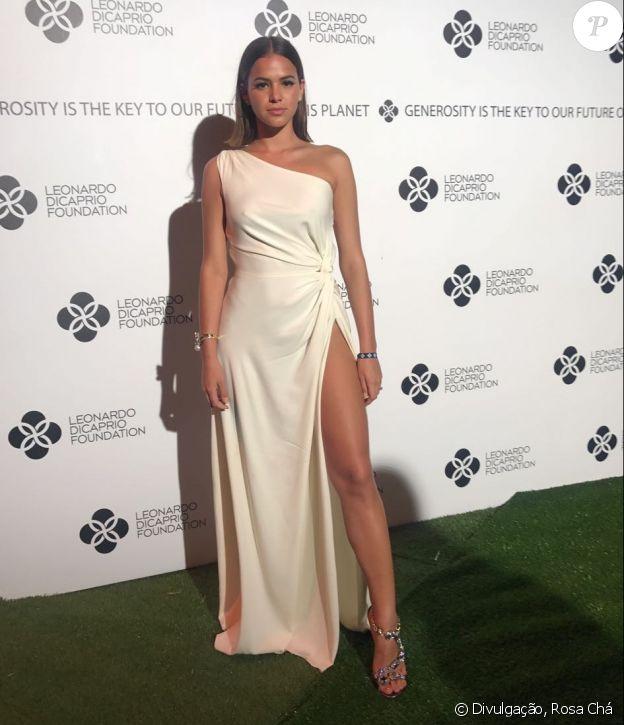 Bruna Marquezine no baile de gala do ator Leonardo DiCaprio, em Saint-Tropez, na França