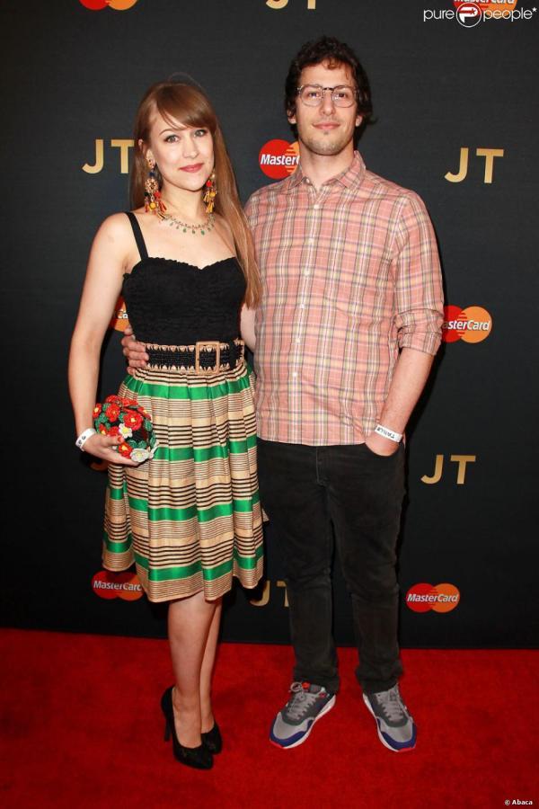 Joanna Andy Samberg Assistent Au Concert De Justin Timberlake Roseland Ballroom