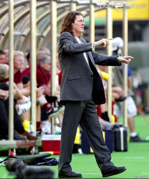 Bruno Metsu le 6 juin 2002 lors de la Coupe du Monde à Daegu.