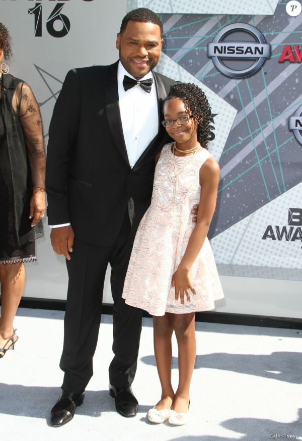Anthony Anderson Marsai Martin - Bet Awards 2016 Au Microsoft Theatre Los Angeles Le 26 Juin