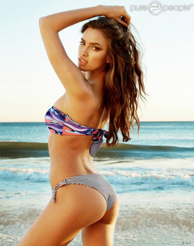 Irina Shayk, visage de la collection Bronze de Beach Bunny.