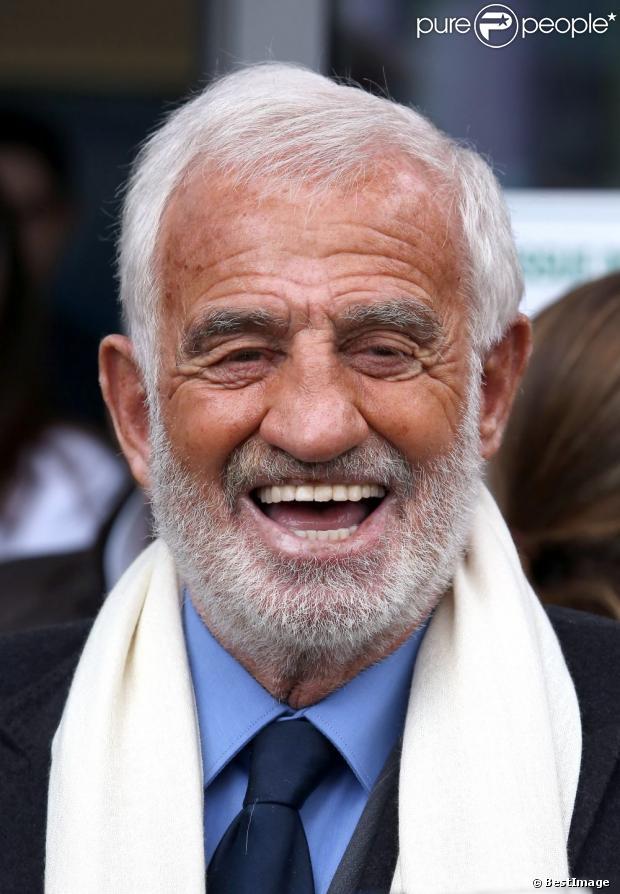 Jean-Paul Belmondo fête ses 80 ans au côté de sa famille et ses amis dont Charles Gérard à Paris, le 9 avril 2013.