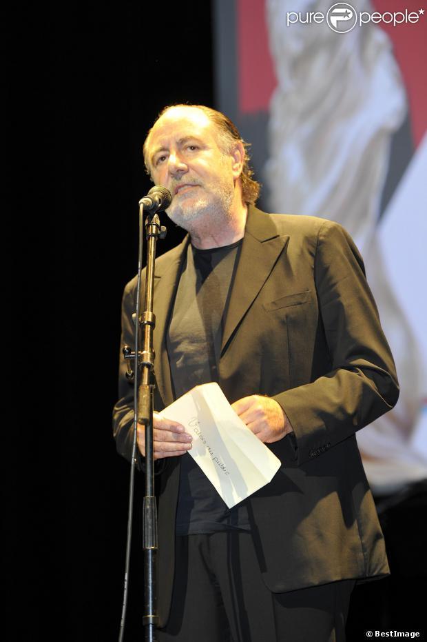 Le chanteur Michel Delpech, lors du 5e festival du film francophone d'Angoulême le 28 août 2012