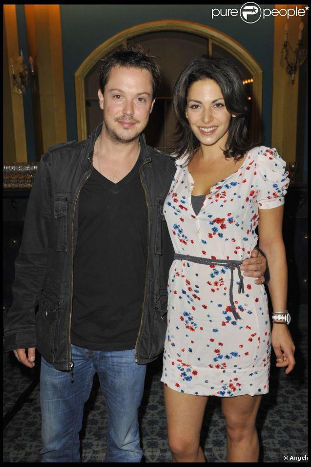 Davy Sardou et son épouse Noémie Elbaz en juin 2010.