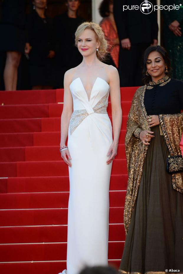 Nicole Kidman en robe Giorgio Armani, le 26 mai 2013 lors du Festival de Cannes.