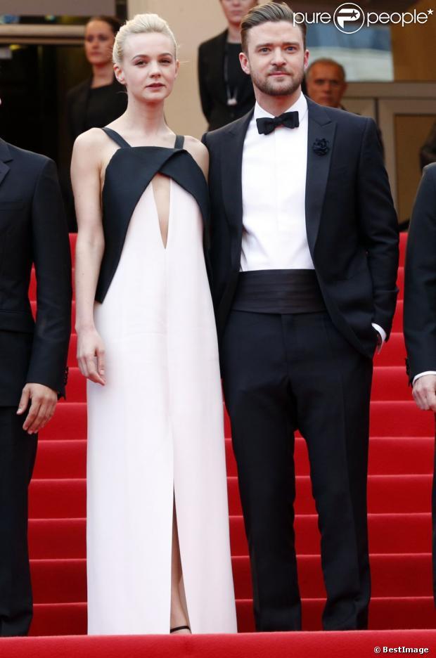 Justin Timberlake et Carey Mulligan en robe Vionnet au Festival de Cannes, le 19 mai 2013.