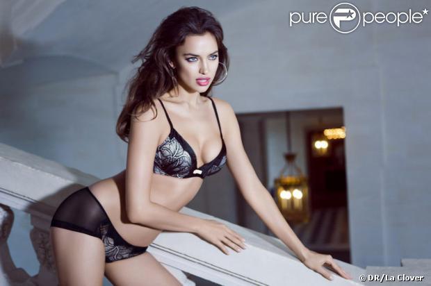 Irina Shayk vous attend à l'étage pour La Clover, opération séduction pour la Saint-Valentin 2013.