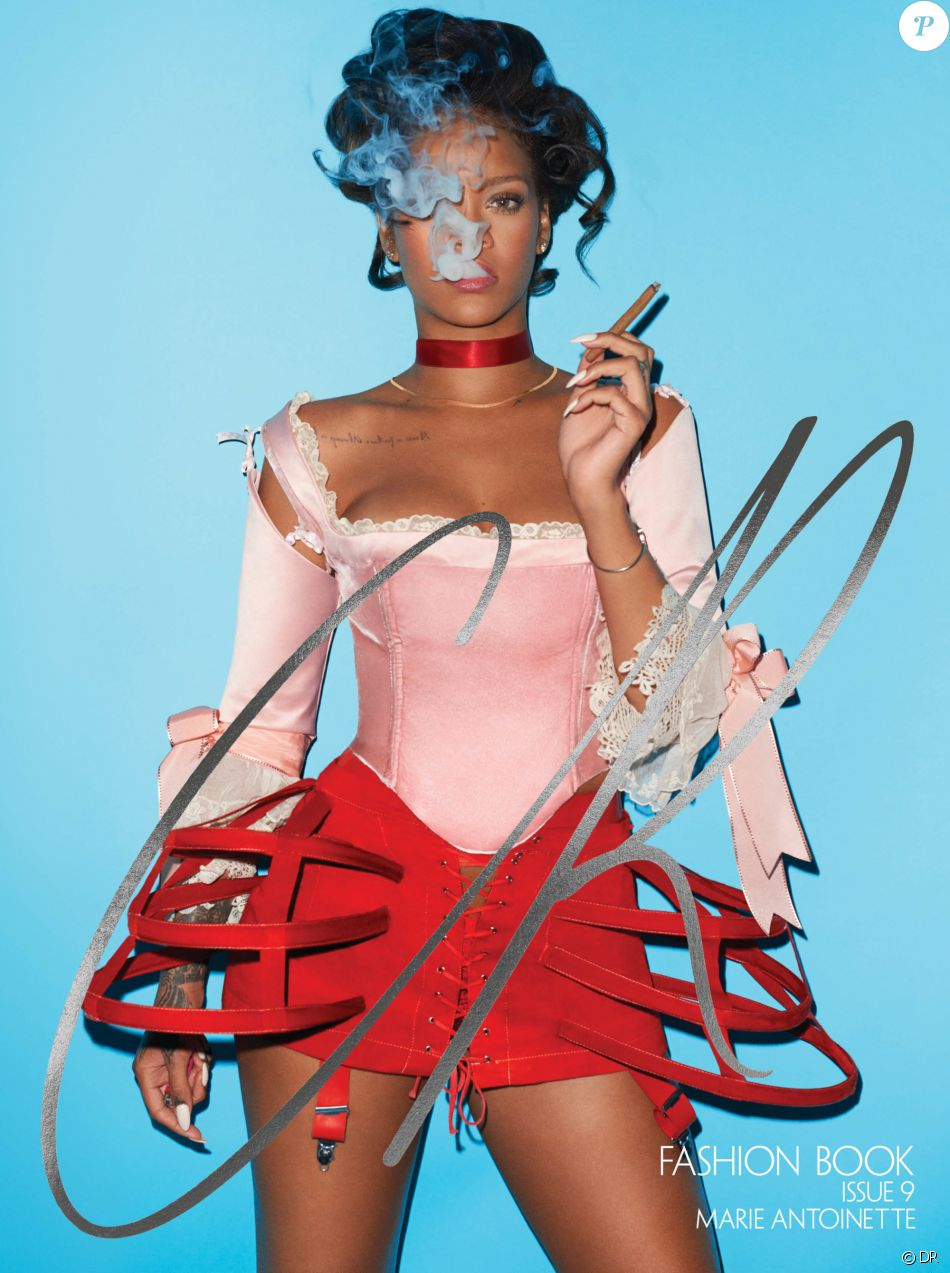 Rihanna en couverture de l'Issue 9 du magazine CR Fashion Book. Photo par Terry Richardson.