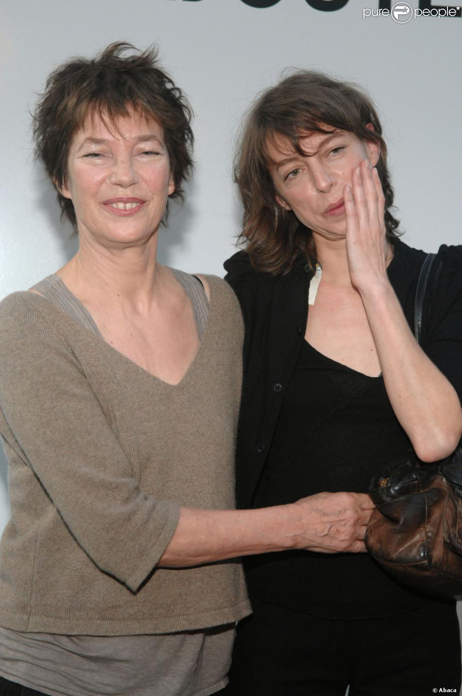 Jane Birkin et sa fille Kate Barry à Paris le 23 mai 2007.
