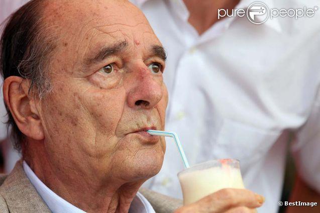 Jacques Chirac à Saint-Tropez, le 14 août 2011.