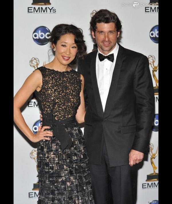 Emmy Awards Patrick Dempsey Sandra - Purepeople