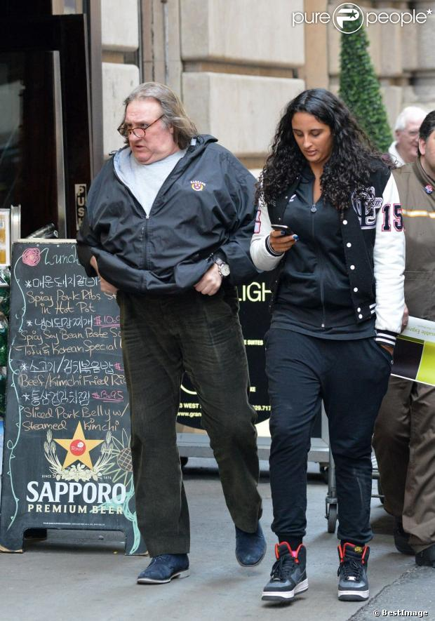 Depardieu with daughter Roxanne in New York April 5 2013