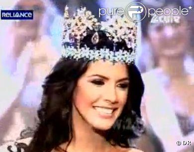 Ivian Sarcos lors de son sacre à l'élection de Miss Monde à Londres le 6 novembre 2011