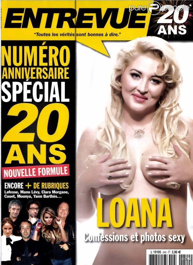 Loana en couverture d'Entrevue