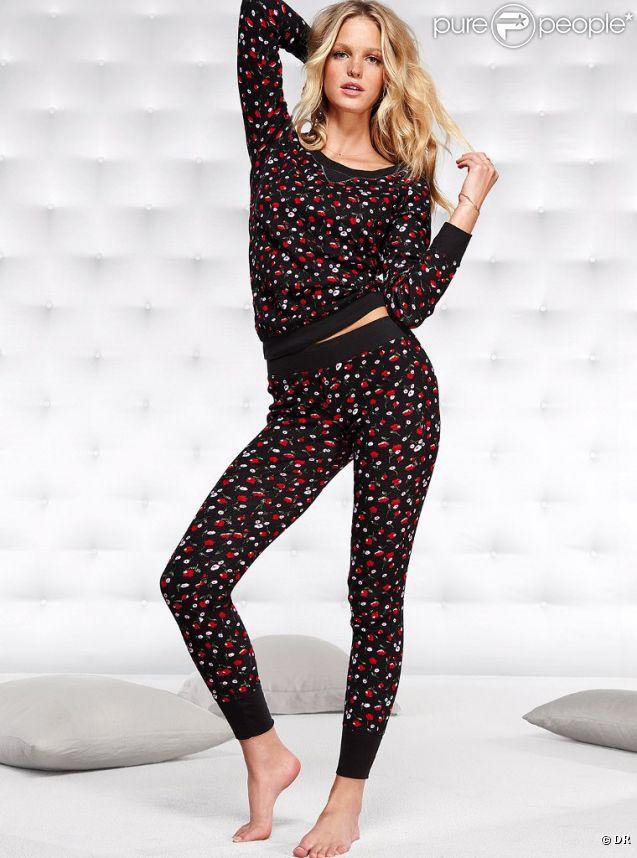Même un pyjama Victoria's Secret n'empêche pas la sexy Erin Heatherton de nous émerveiller !