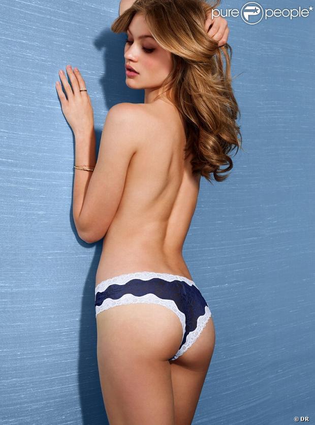 Caroline Corinth, topless et en petite culotte, dévoile ses jolis atouts pour Victoria's Secret.