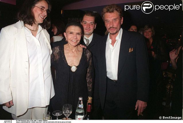 Desta et Johnny Hallyday au VIP Room pour les 56 ans du rockeur