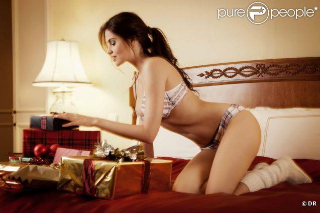 Hana Nitsche prend la pose pour la lingerie Enamorata