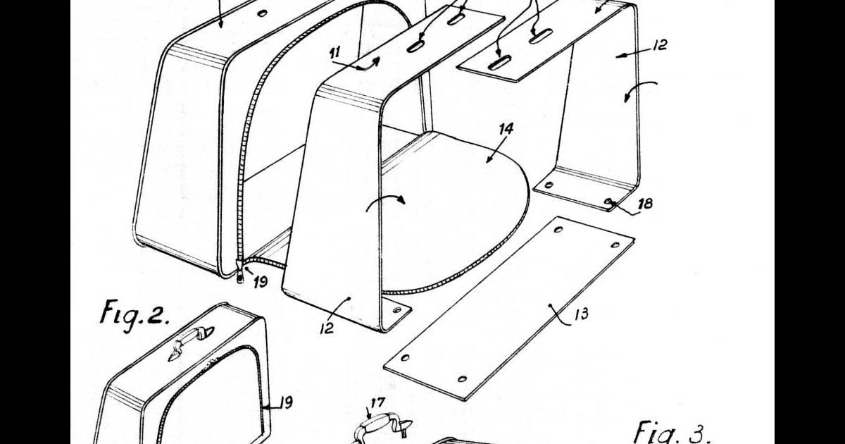 Dessin original de la valise Airessqui montre le châssis