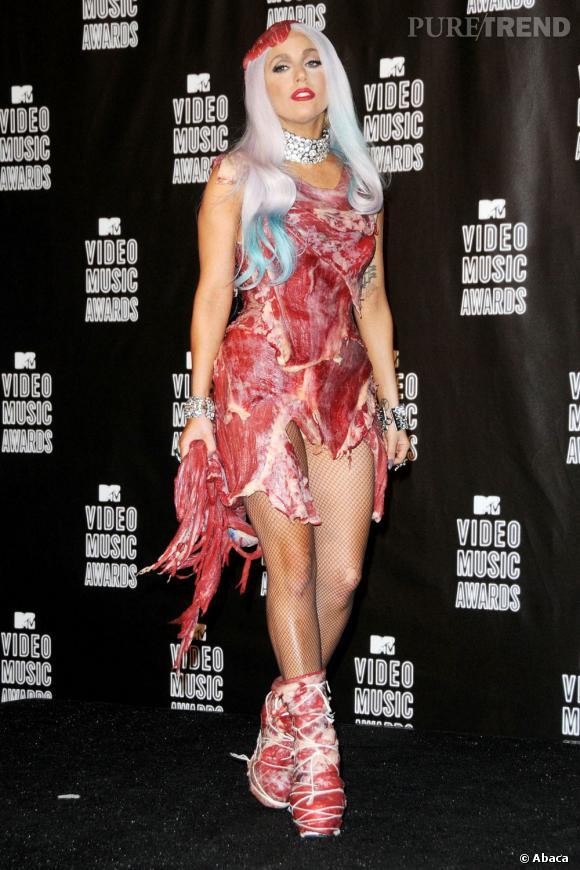 Robe Viande Lady Gaga : viande, Fameuse, Viande, Puretrend