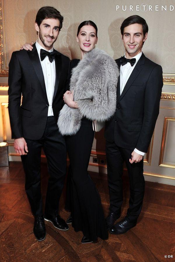 """Vincent Chaillet, Marie-Agnès Gillot et un ami à la soirée """"CR Fashion Book 2""""."""