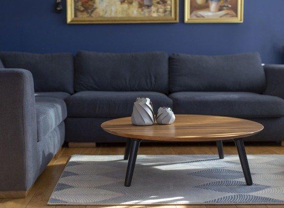 contrast slice coffee table 100x100x31cm white