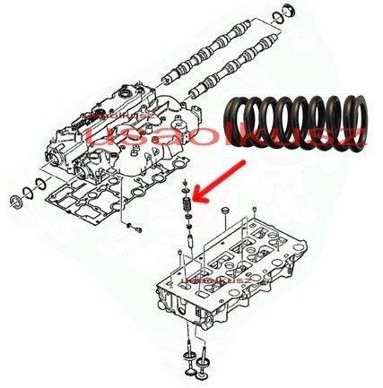 Sprężyna zaworowa Jeep Liberty Cherokee 2,5 CRD 2,8CRD