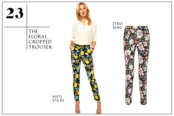 23-The Floral Cropped Trouser