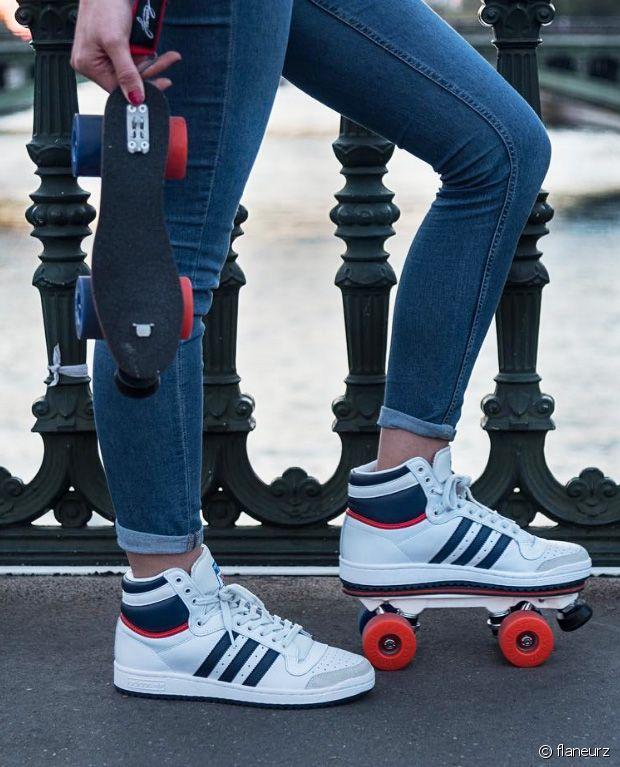 les sneakers patins a roulettes de