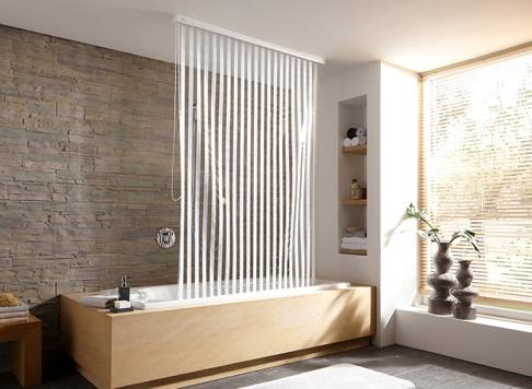 Der Duschvorhang  Aufhngesysteme und Modelle  SCHNER