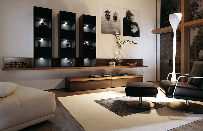 Wohnwand modern  die Schrankwand frs Wohnzimmer