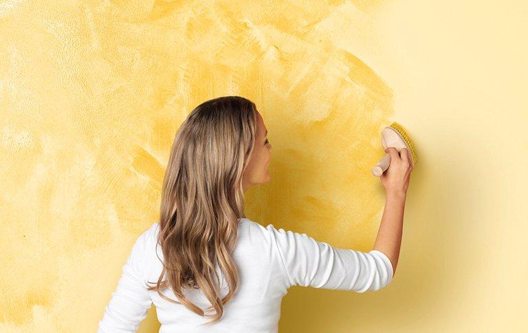 Wandgestaltung in WischOptik  SCHNER WOHNENFarbe