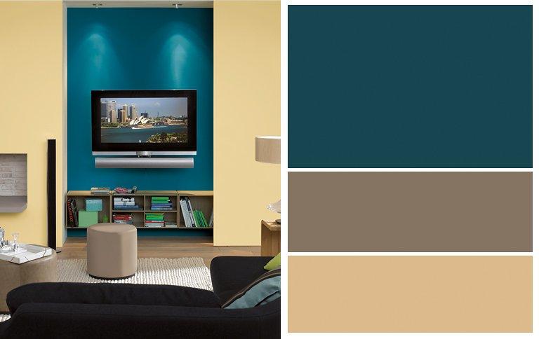 design wandgestaltung wohnzimmer braun beige wohnzimmer petrol ... - Wandgestaltung Wohnzimmer Braun Beige