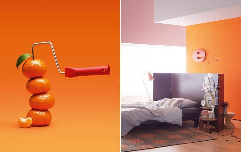 Wohnen mit Farben Trendfarbe Mandarino  Bild 2  SCHNER WOHNEN
