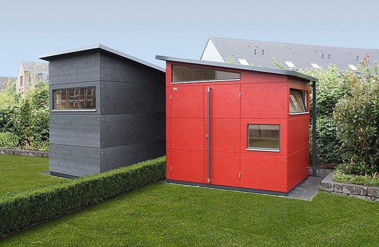 Gartenhaus  aus Holz Metall als Modulhaus oder zum