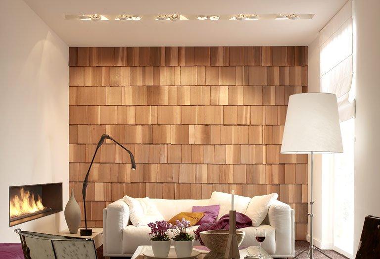 Holz Tapete Wohnzimmer
