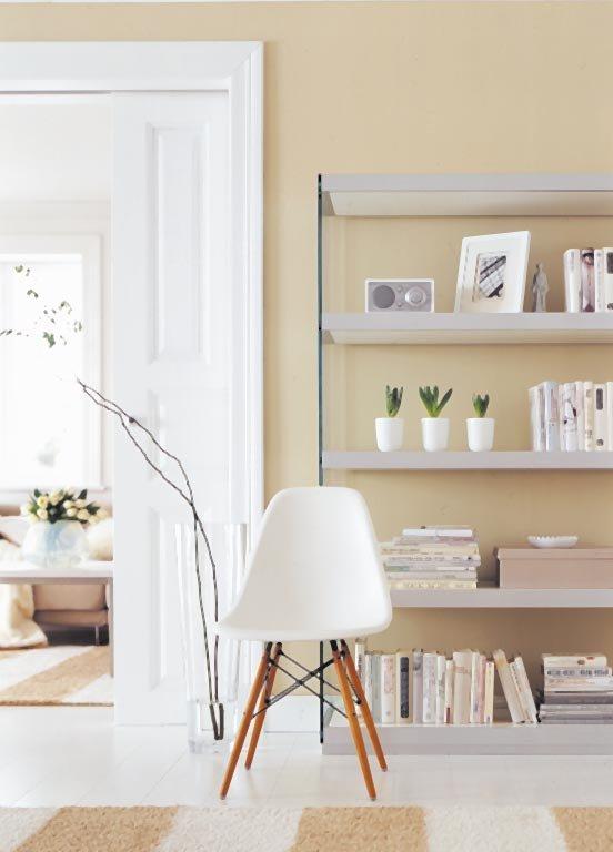 Wohnen mit Farbe  Pastell als Wandfarbe mit farbigen Mbeln  SCHNER WOHNEN