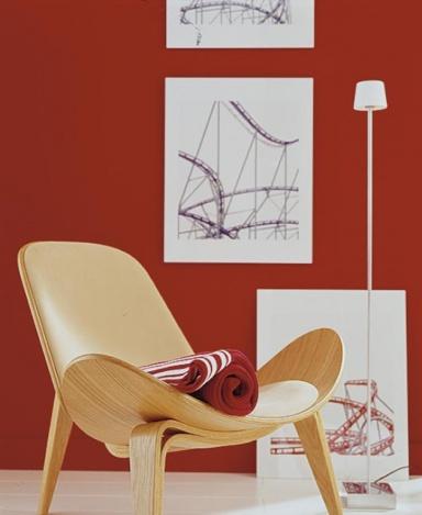 Inspiration Leidenschaftliches Rot als Hintergrund fr helles Holz  Bild 9  SCHNER WOHNEN
